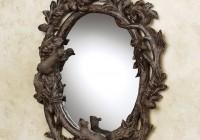 Rustic Oval Bathroom Mirrors