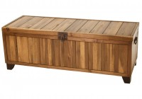 Rustic Wooden Storage Bench