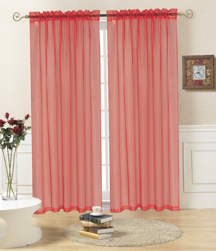 Permalink to Sheer Red Window Curtains