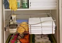Small Utility Closet Organization