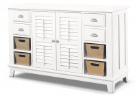 White Console Tables With Storage