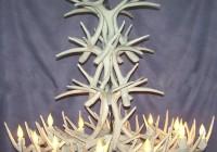 White Deer Antler Chandelier