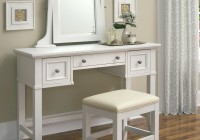 White Dresser With Mirror And Chair