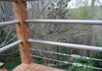 wire deck railing diy