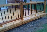 Wood Deck Railing With Metal Balusters