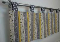 Yellow And Grey Sheer Curtains