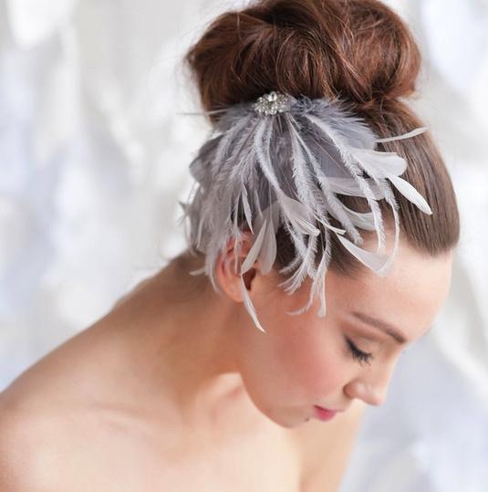 Ira feather headpiece