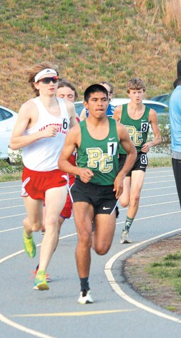 Juan Cisneros, shown competing in the 1600m race where he finished third, also finished first in the 800m.