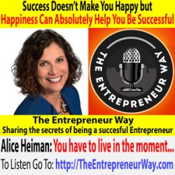 642: Success Doesn't Make You Happy but Happiness Can Absolutely Help You Be Successful with Alice Heiman Founder and Owner of Alice Heiman LLC