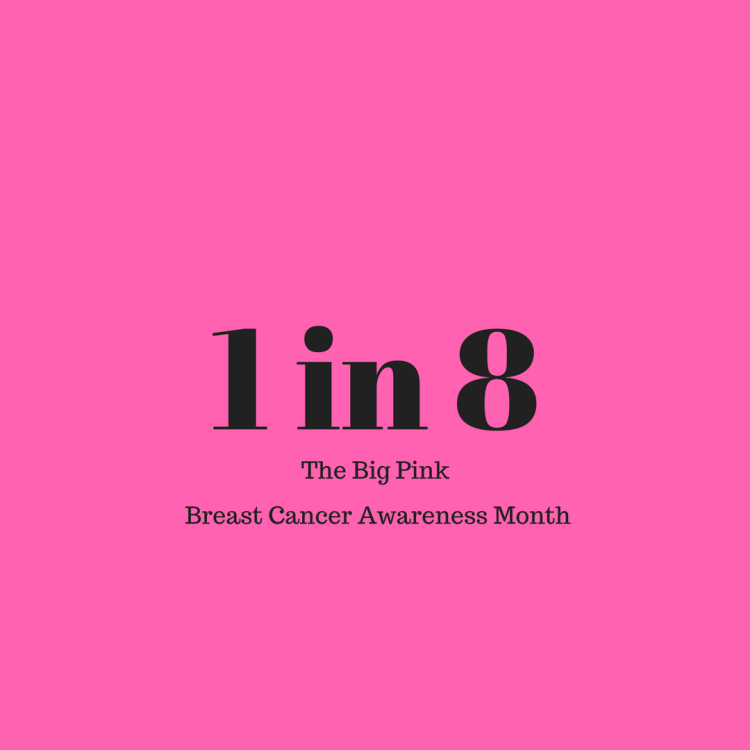 1 in 8 get diagnosed with breast cancer