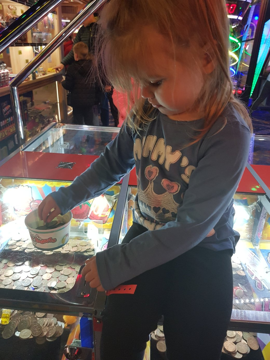playing with the 2p machine