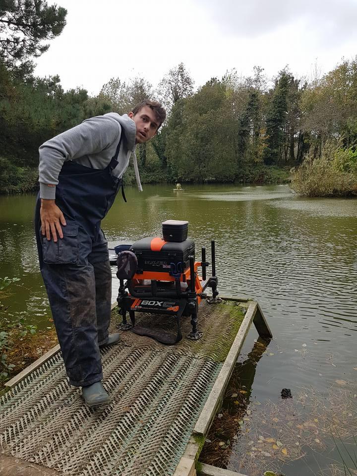 Ryan with his fishing kit