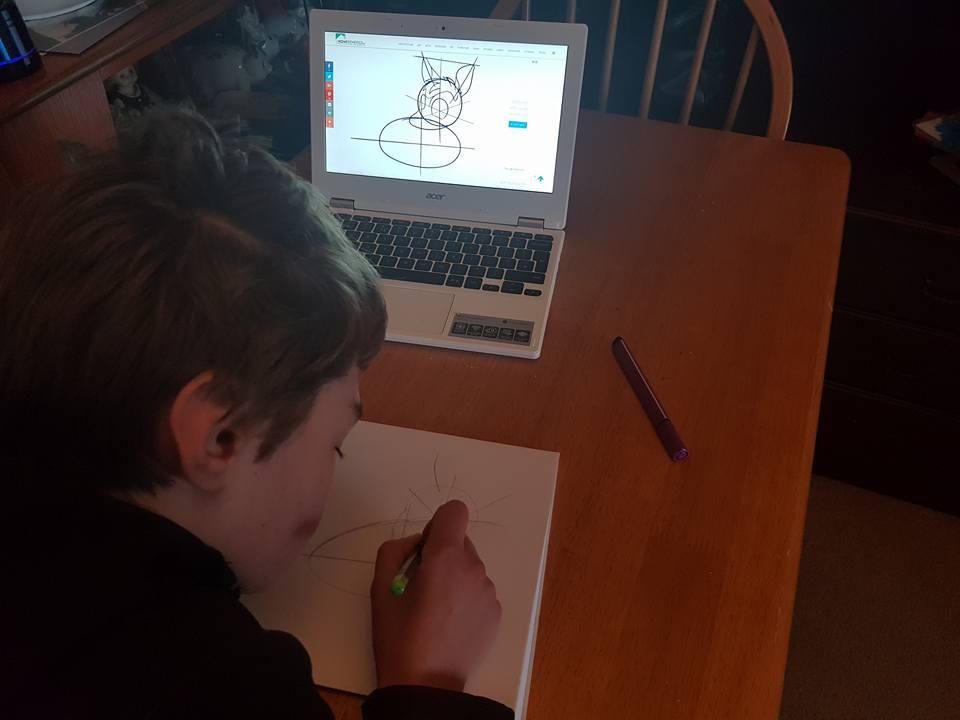 Drawing a deer