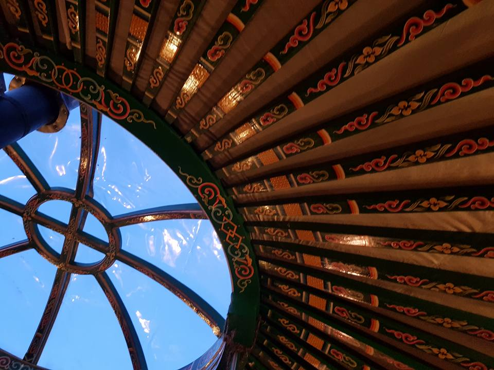 Hand crafted yurt beams