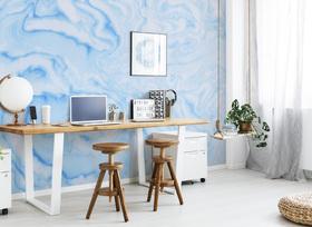 bright blue wallpaper
