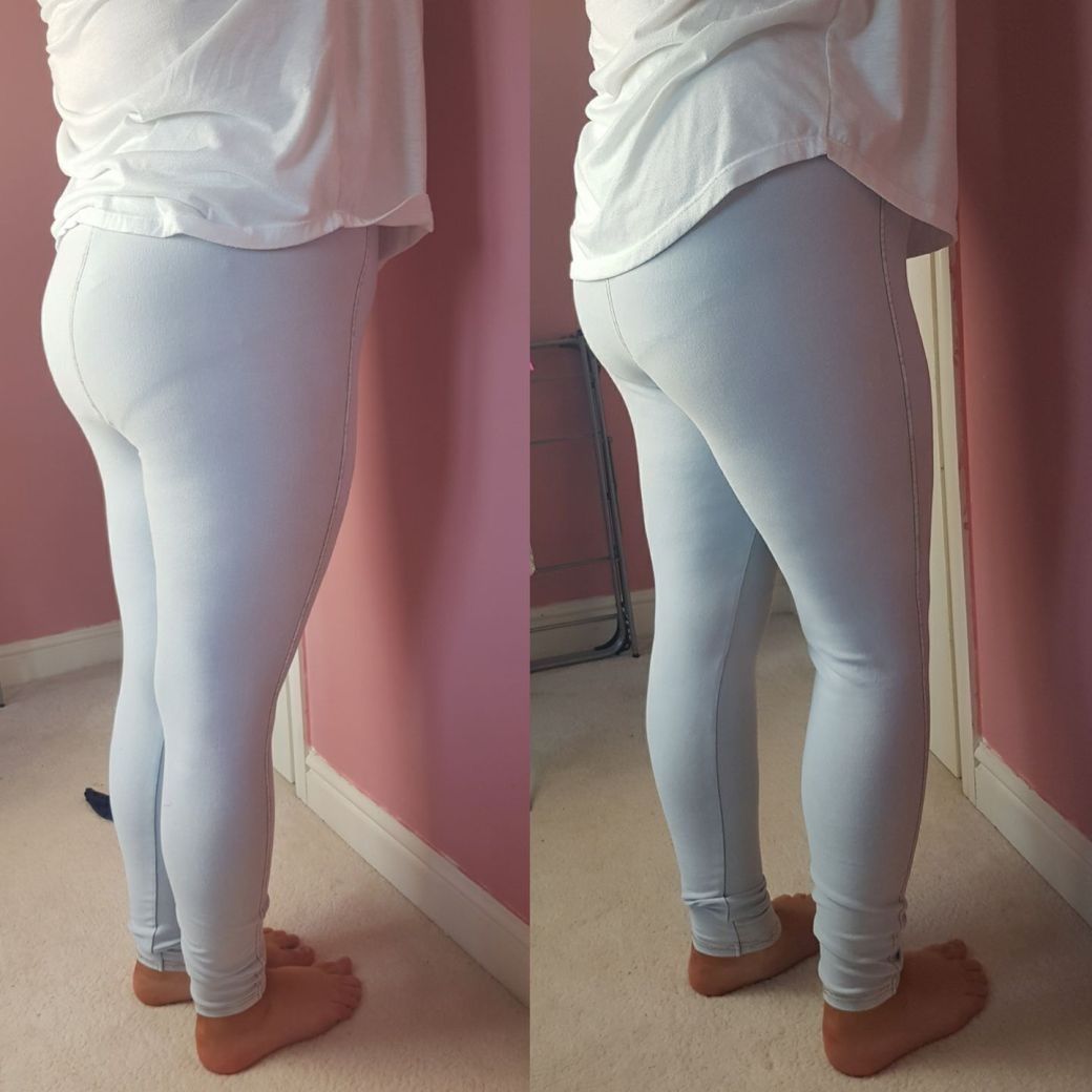 before and after of bum pants