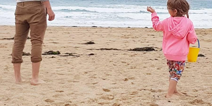 Ryan and Shaniah on the beach