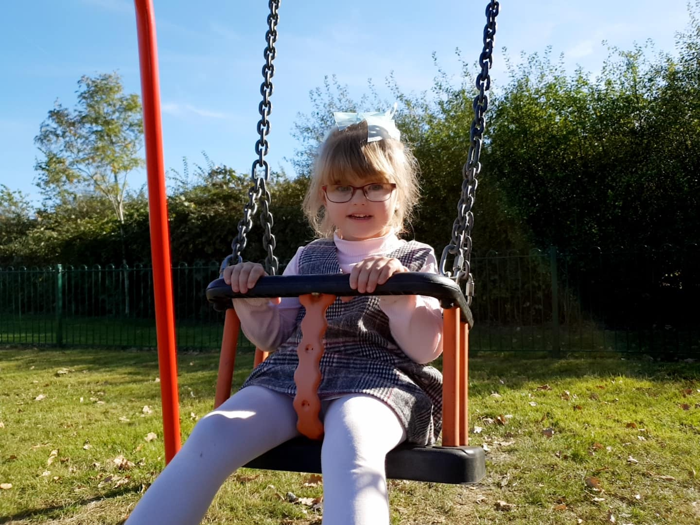 shaniah on a swing