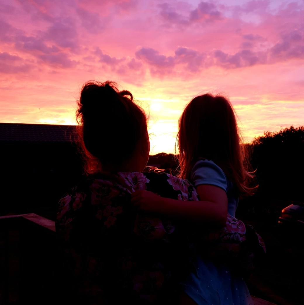 Shaniah and I watching the sunset