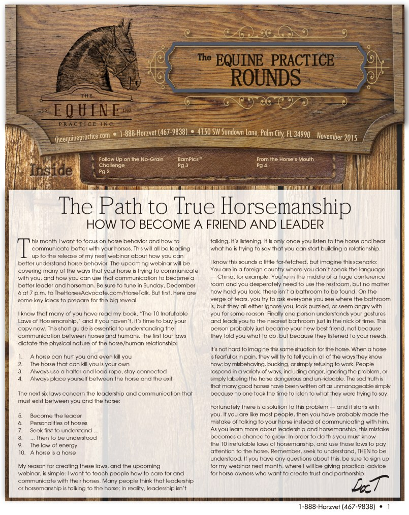 The Equine Practice Rounds™ November 2015 page 1 of 4