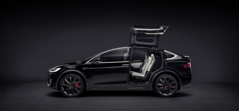 Tesla gull wings black