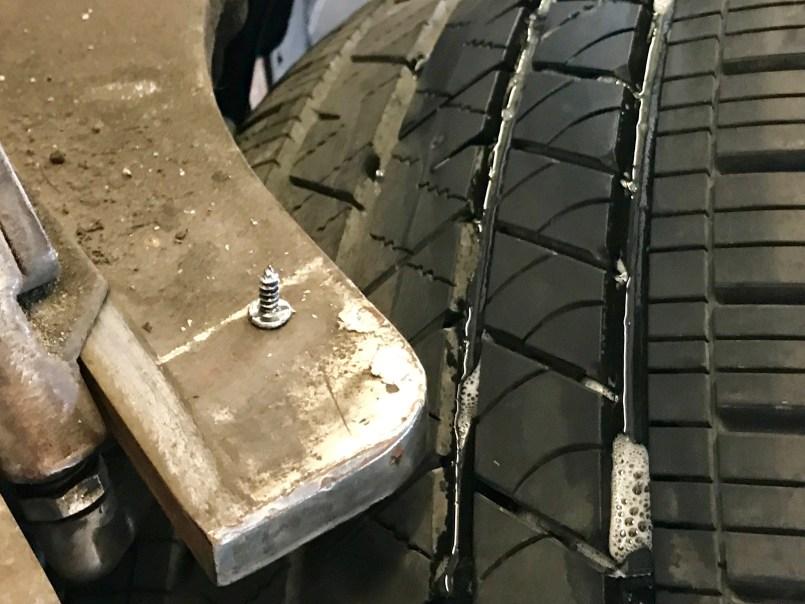 Tesla tire nail