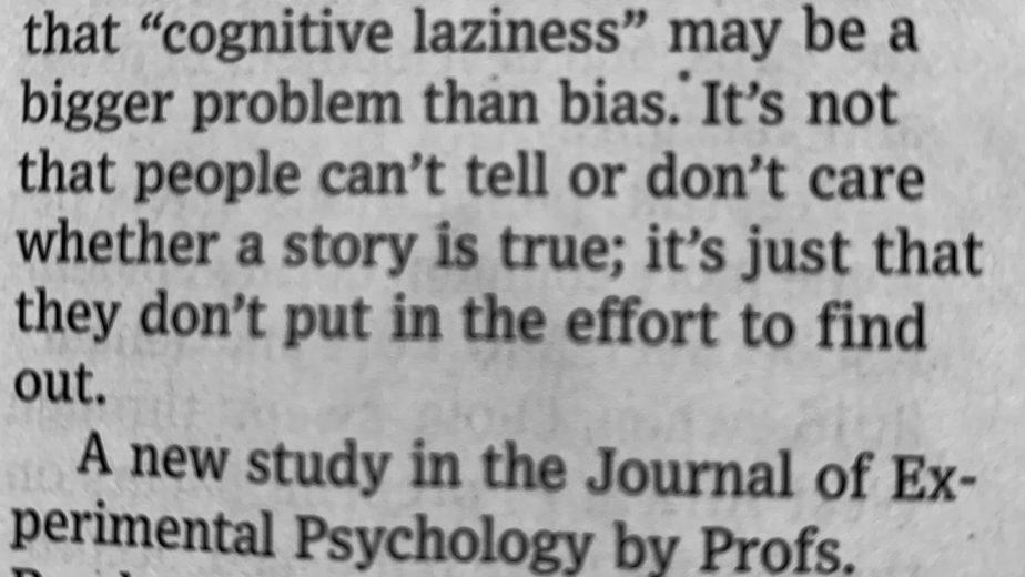 Cognitive Laziness