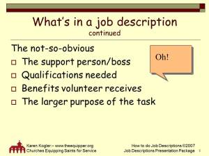 Sample slide 5, Job Descr toolkit, how