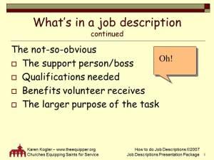 Sample slide 5, Job Descr toolkit, how