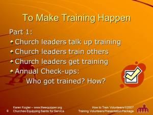 Sample slide 9, Training kit, how