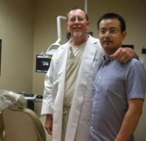 Bo was in San Antonio for post doctoral work in dentistry. He is shown here with Dr. Jeff Beal, a dentist from our congregation.