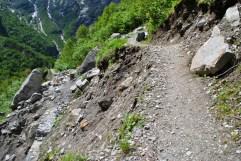 a dangerous point on the valley trek