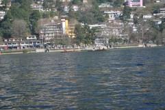 A partial view of the Nainital Lake and town