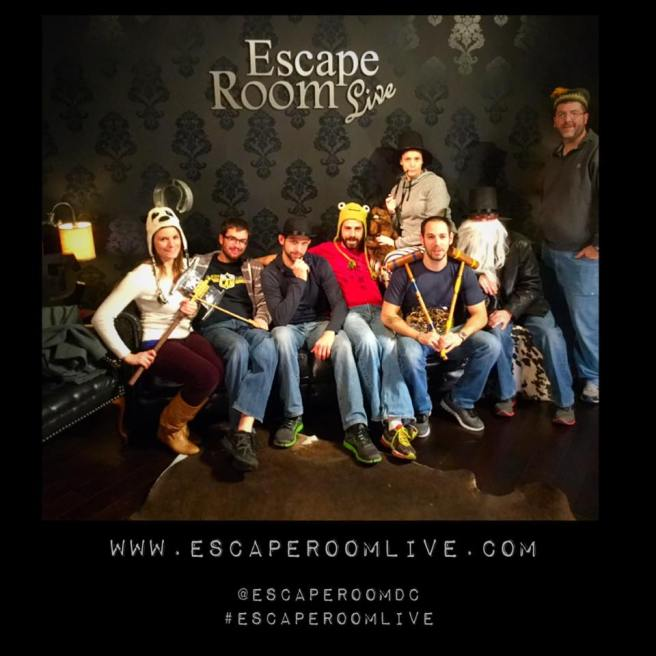 Escape Room Live: Sherlock Holmes - A Matter of Time. Photo courtesy of Escape Room Live Alexandria's Facebook page.