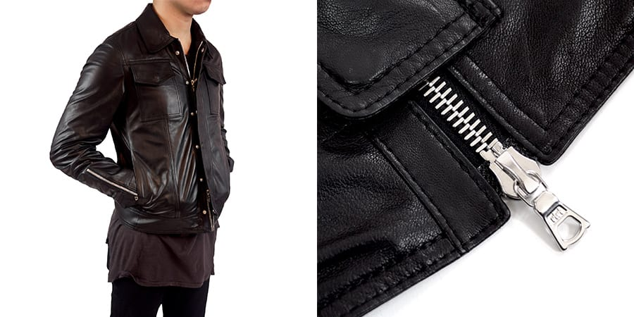 A leather jacket I designed using a high quality RiRi Zipper