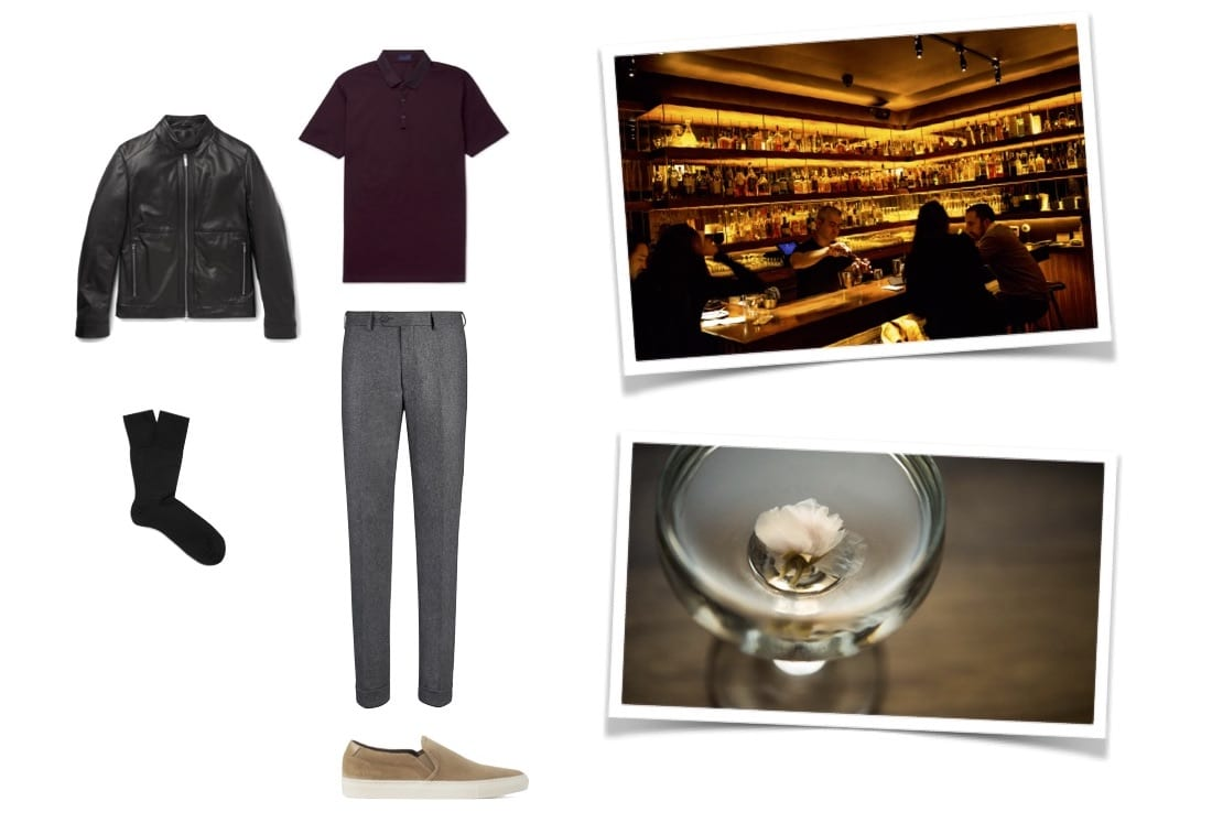 Cocktail Bar Date Look for Men