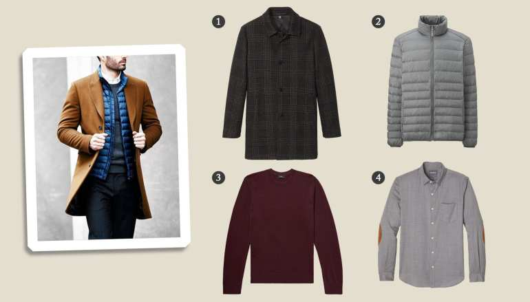 How to layer winter clothes for men freezing