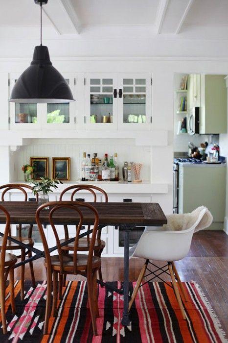 navajo rug dining room