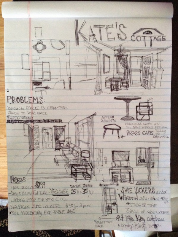 Kates Cottage doodles and planning