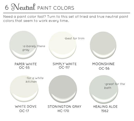 2014 Interior Paint Colors: Best Neutral Paint Colors