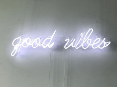 good vibes neon sign