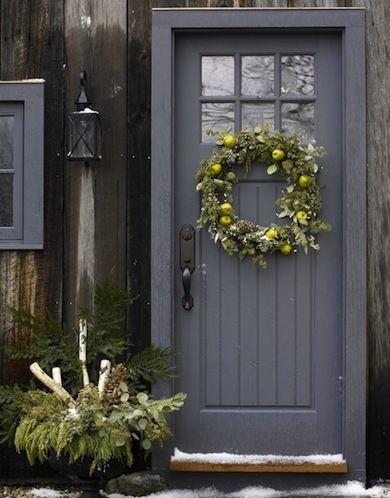 xmas grey door