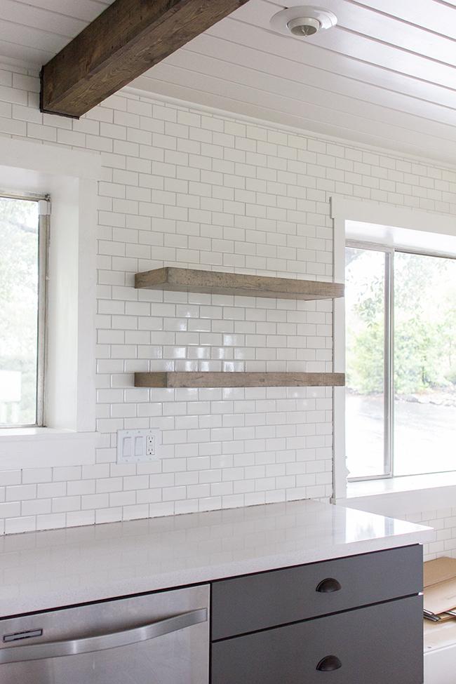 plywood DIY shelves