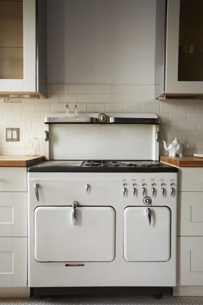 white appliance range