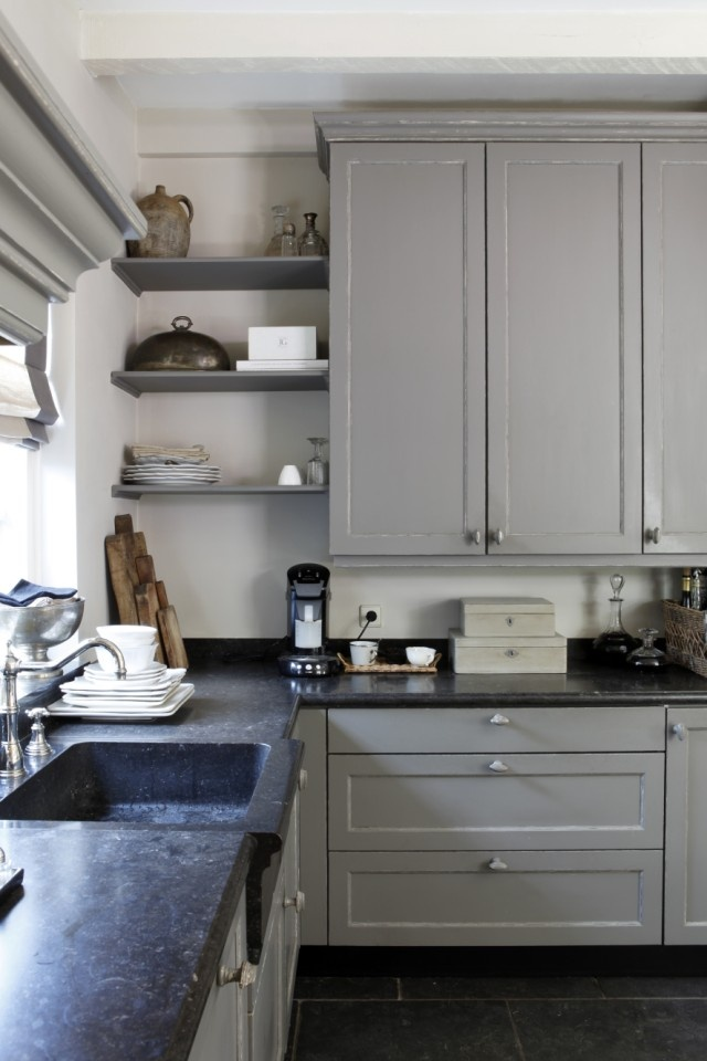 gray cabinets breadboard