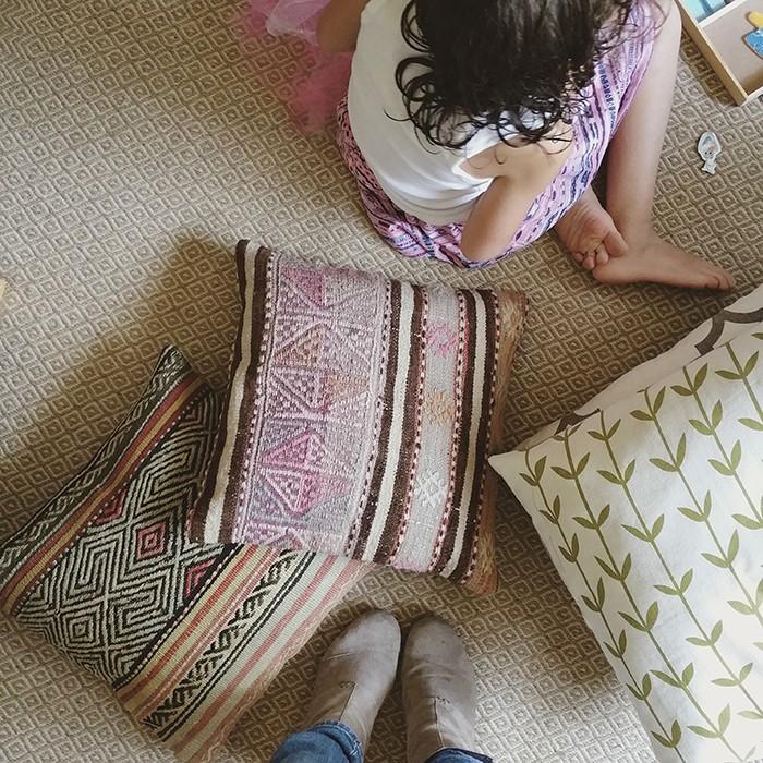 Little Girls and Pillows