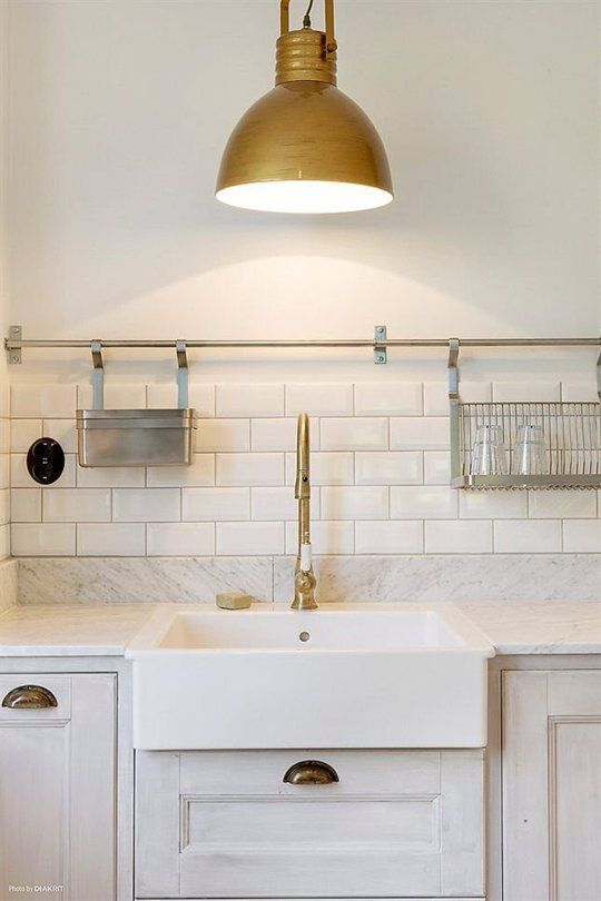 Kitchen Pot Rails- mix brass