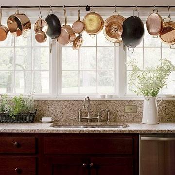 Kitchen Pot Rails - over sink
