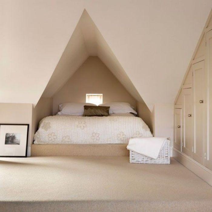 attic queen bed