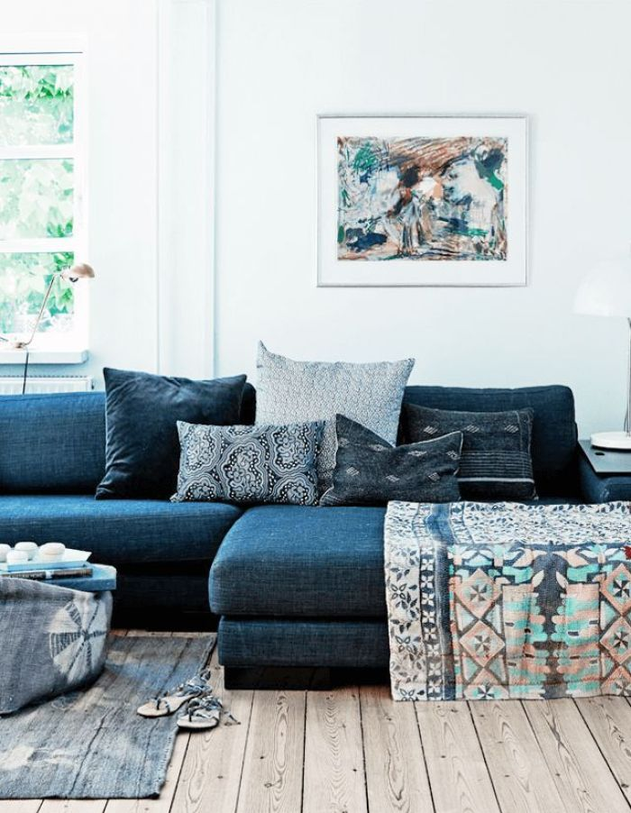 Denim and Indigo Sofas
